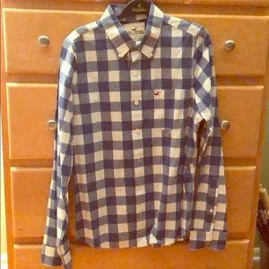 Hollister Blue & White Button Down